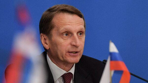 Председатель Государственной Думы РФ Сергей Нарышкин - Sputnik 日本