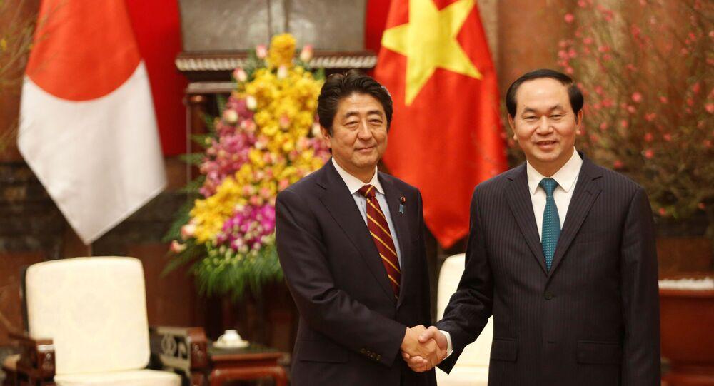 安倍首相とベトナムのチャン・ダイ・クアン国家主席(アーカイブ)