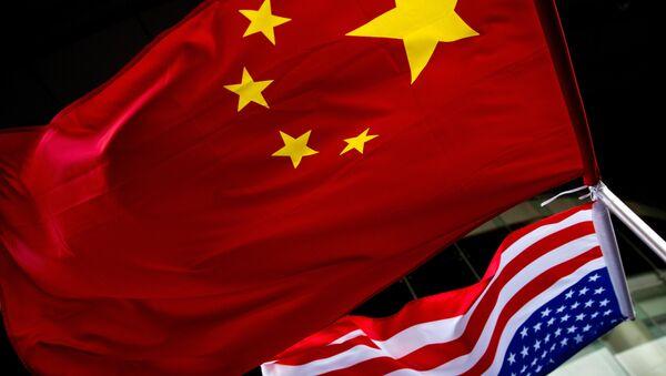 中国と米国の旗 - Sputnik 日本