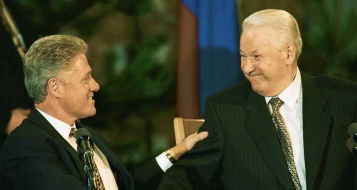 クリントン米大統領とロシアのエリツィン大統領の会談
