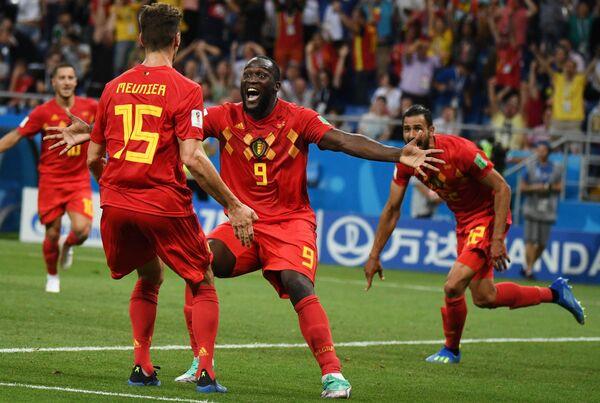 ゴールを決め喜ぶベルギーの選手たち - Sputnik 日本