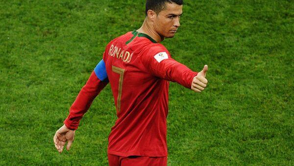 Криштиану Роналду  в матче группового этапа чемпионата мира по футболу между сборными Португалии и Испании - Sputnik 日本
