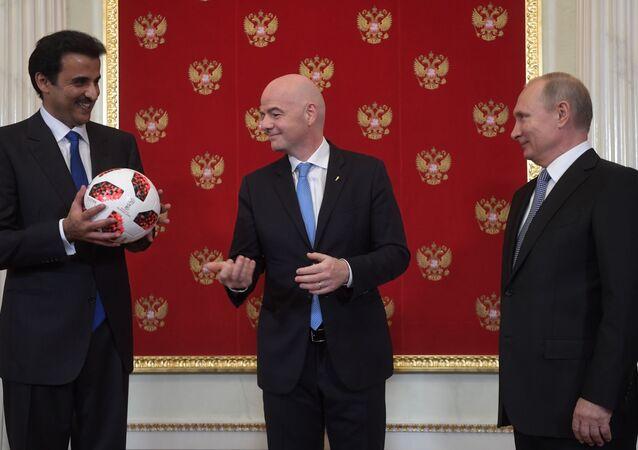 プーチン氏、カタールにW杯開催権を継承