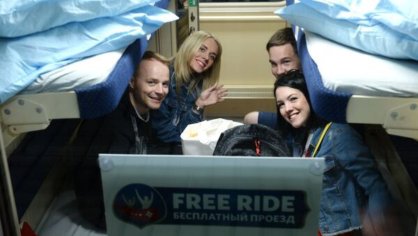 無料寝台列車の旅 - Sputnik 日本