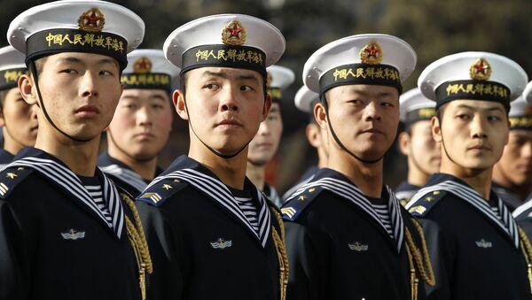 Члены почетного караула ВМФ Китая  - Sputnik 日本