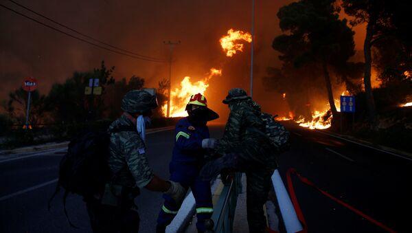 ギリシャ森林火災 - Sputnik 日本