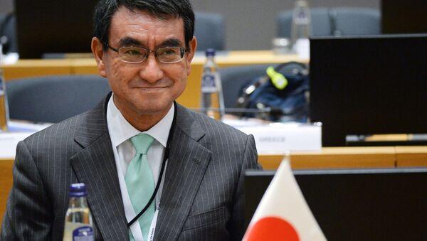 Глава МИД Японии Таро Коно - Sputnik 日本