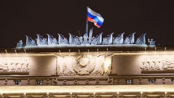 Flag on the Russian Defense Ministry building on Frunzenskaya embankment in Moscow - Sputnik 日本
