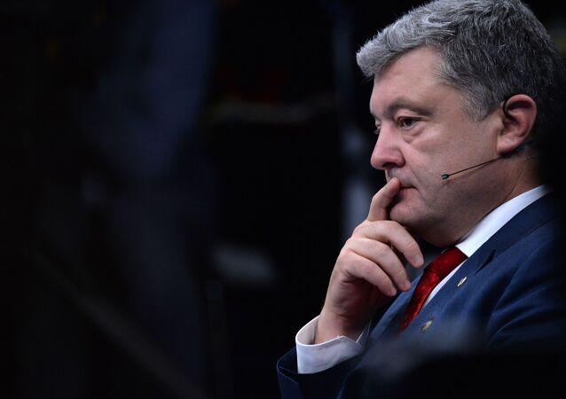 ウクライナのポロシェンコ大統領(アーカイブ写真)