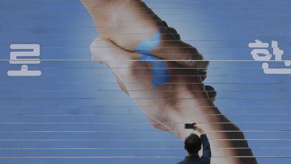 南北会談をめぐるポスター(アーカイブ写真) - Sputnik 日本