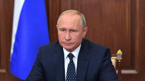El presidente de Rusia, Vladímir Putin, explica en una comparecencia pública sus propuestas para la reforma en la edad de jubilación - Sputnik 日本