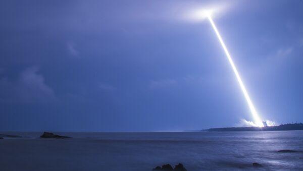 Момент запуска китайского спутника в провинции Хайнань - Sputnik 日本