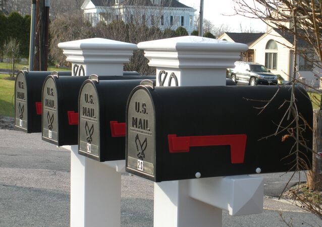 米国の郵便受け(アーカイブ写真)