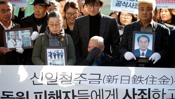 Жертва колониального правления Японией над Южной Кореей во время протеста в Сеуле - Sputnik 日本