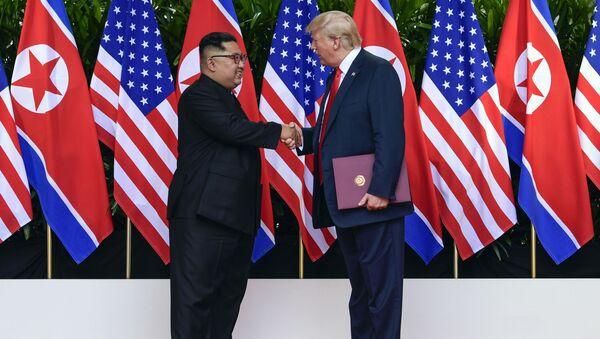 6月12日にシンガポールで行われた米朝首脳会談 - Sputnik 日本