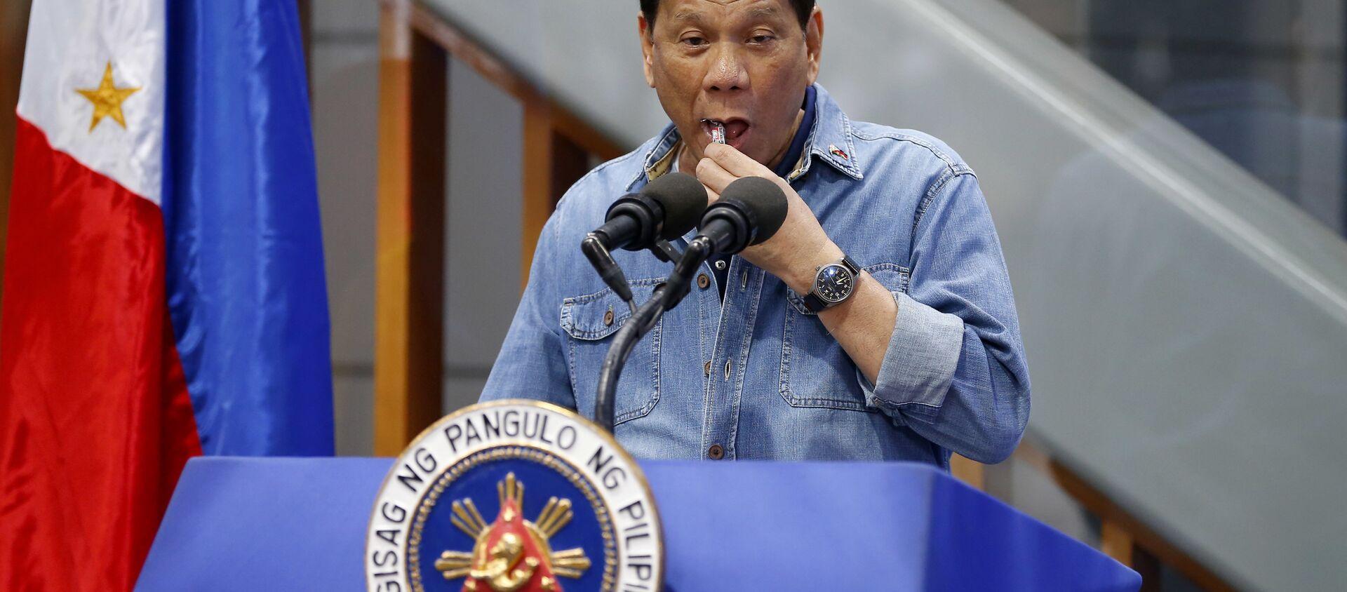 フィリピン大統領 国民は新型コロナワクチンを選べないと発言=マスコミ - Sputnik 日本, 1920, 18.05.2021