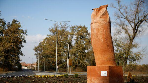 Памятник сове в Кикинде, Сербия - Sputnik 日本