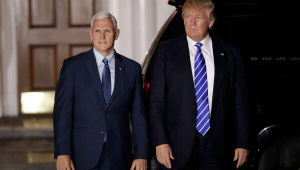 ドナルド・トランプ米大統領とマイク・ペンス副大統領 - Sputnik 日本