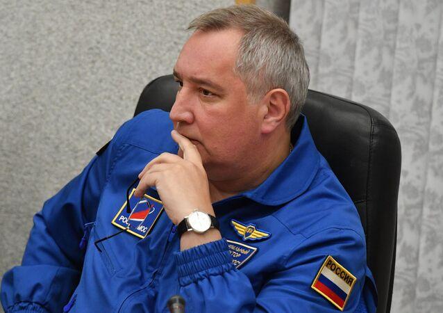 ロシアの国営宇宙開発企業「ロスコスモス」のドミトリー・ロゴージンCEO