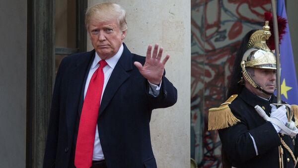 Trump bei den Veranstaltungen in Paris anlässlich des 100. Jahrestages des Endes des Ersten Weltkriegs - Sputnik 日本