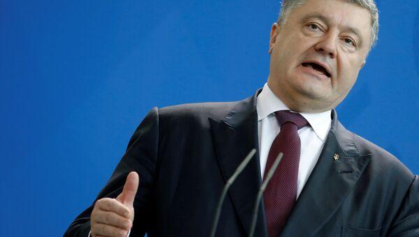 Президент Украины Петр Порошенко - Sputnik 日本