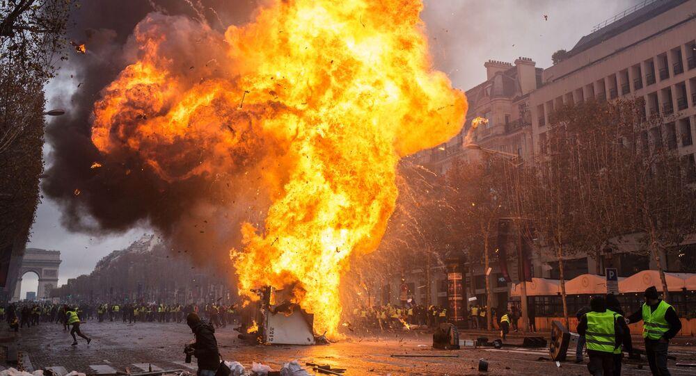 フランスにあるデモ