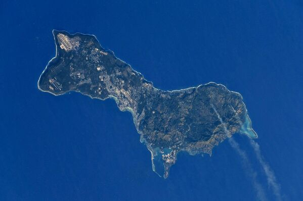 ISSで撮影した宇宙から見たグアム島 - Sputnik 日本