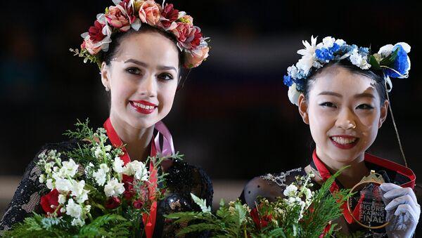 ロシアのアリーナ・サギトワと日本の紀平梨花(アーカイブ写真) - Sputnik 日本