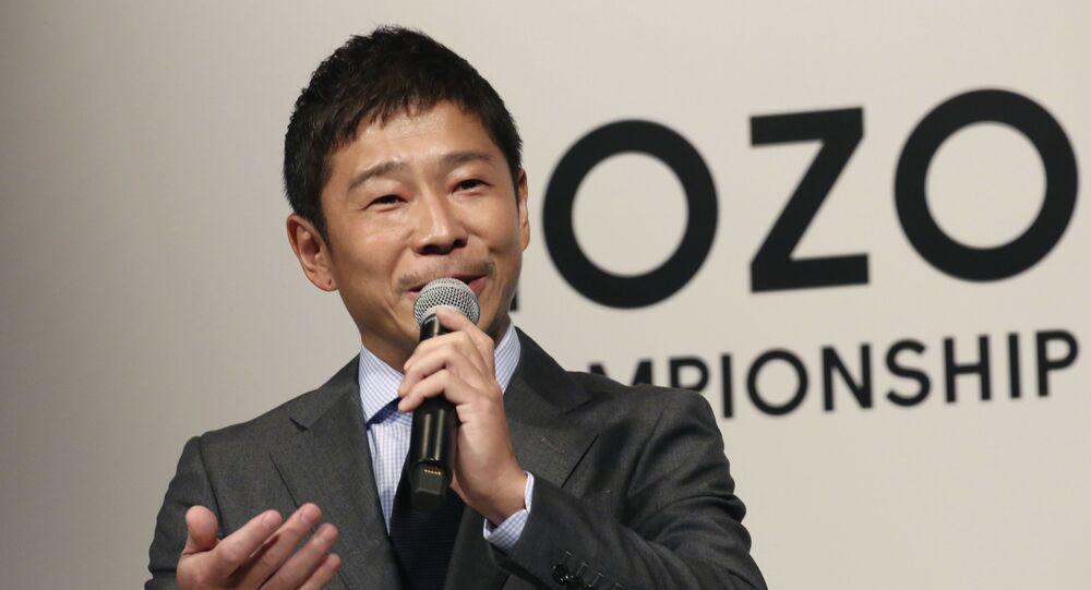 日本のファッション通販大手「ZOZO」の前澤友作社長