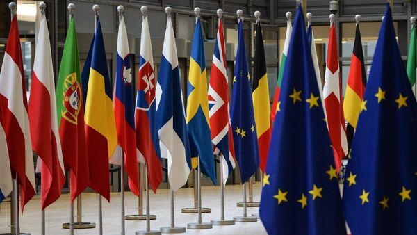 Las banderas de los países miembros de la Unión Europea - Sputnik 日本