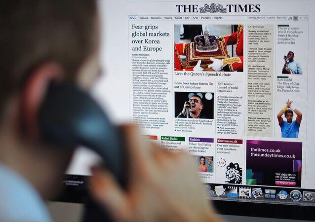 英国紙「ザ・タイムズ」(アーカイブ写真)