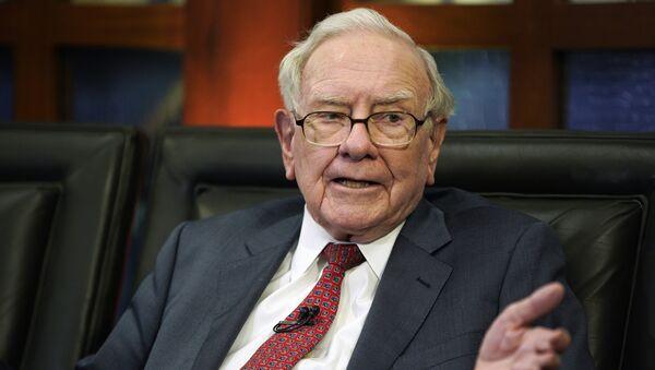 Warren Buffett, multimillonario estadounidense (archivo) - Sputnik 日本