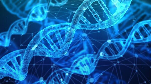 Художественное изображение молекул ДНК - Sputnik 日本