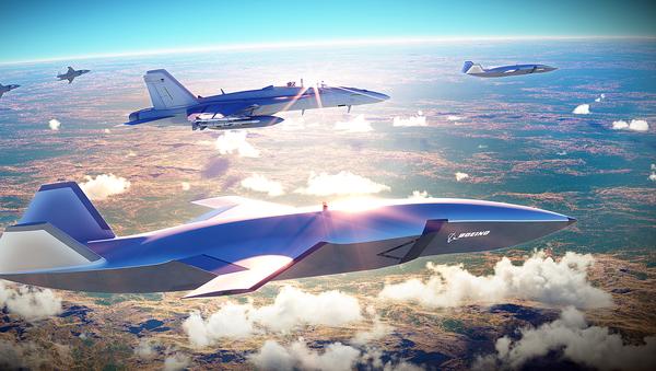 Прототип беспилотного самолета Boeing Airpower Teaming System - Sputnik 日本