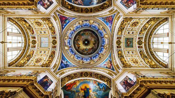 聖イサアク大聖堂の丸屋根、内部の様子 - Sputnik 日本
