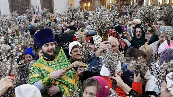 正教徒、「柳の日曜日」を祝う - Sputnik 日本
