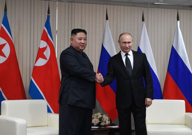 金正恩とプーチン大統領(2019年4月)