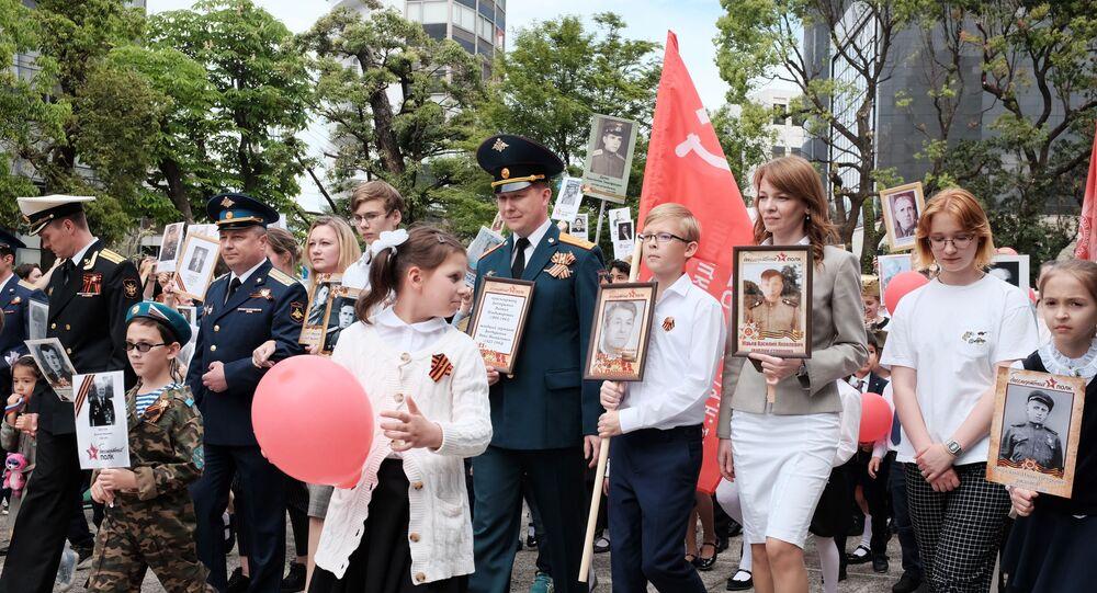 諸民族を団結する記憶 日本で「不滅の連隊」運動行われる