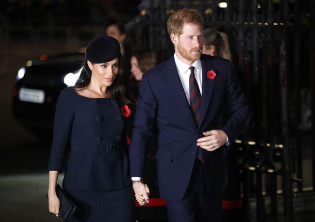 メーガン妃とヘンリー王子(アーカイブ写真)