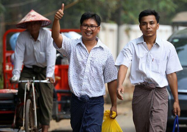 収監のロイター記者2人、ミャンマーが釈放 拘禁期間500日超