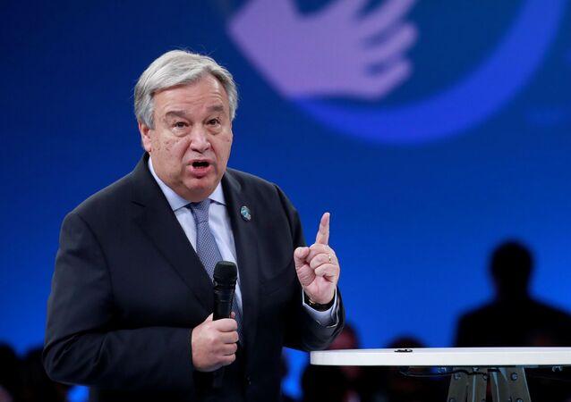 国連のアントニオ・グテーレス事務総長(アーカイブ写真)