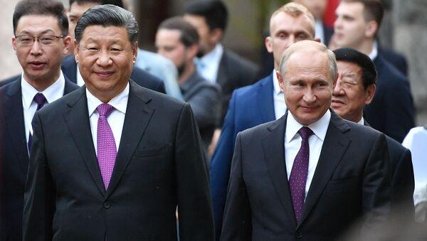 中国の習近平国家主席とロシアのプーチン大統領 モスクワ動物園へ2頭のジャイアントパンダを貸与する公式セレモニーに参加 - Sputnik 日本