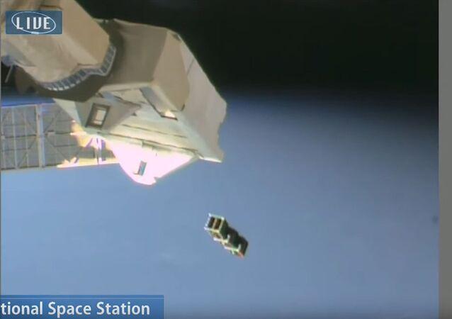 日本、国際宇宙ステーションから初のネパール人工衛星を放出