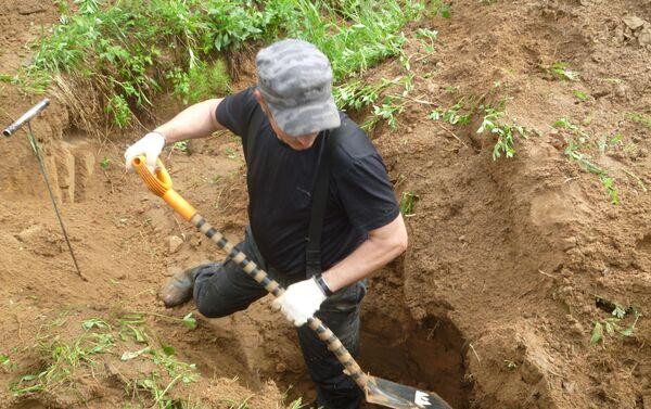 メドベージ村の発掘現場 - Sputnik 日本