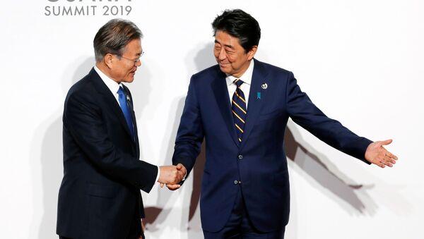 安倍氏とムン氏 - Sputnik 日本
