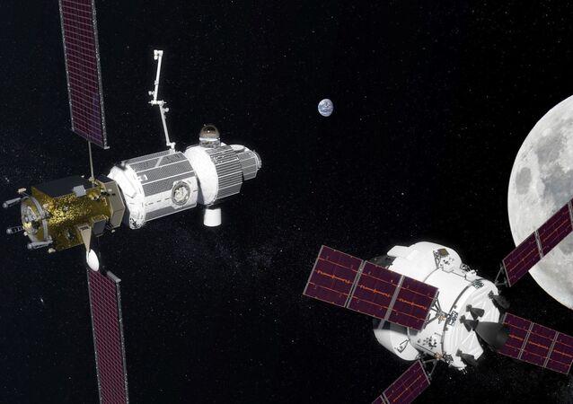 月周回軌道上のステーション