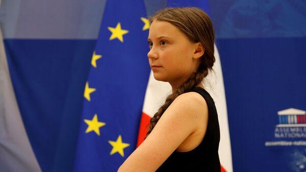Шведская школьница и экологическая активистка Грета Тунберг - Sputnik 日本