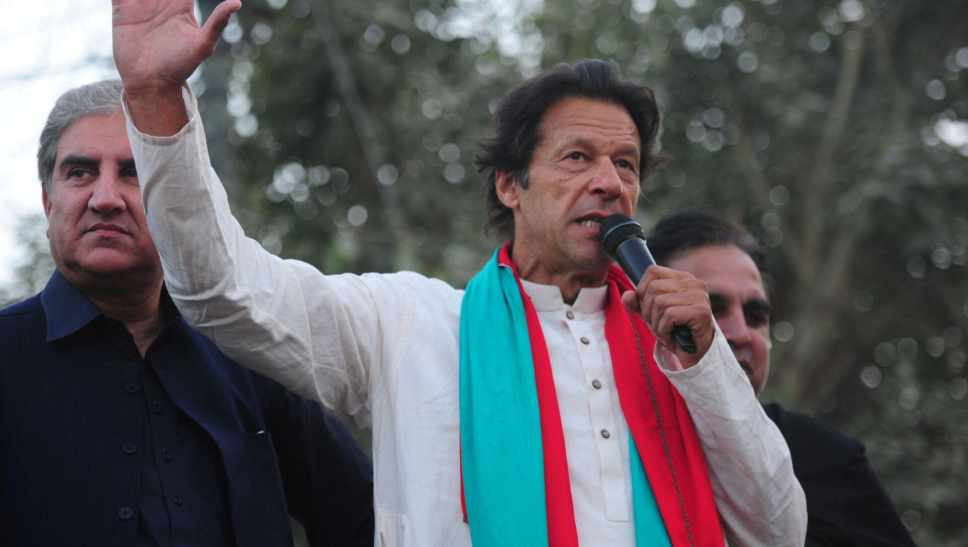 Пакистанский политик Имран Хан на митинге в Карачи - Sputnik 日本, 1920, 16.09.2021