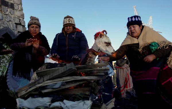 ボリビアの先住民族アイマラの地球の女神を崇拝する儀式 - Sputnik 日本
