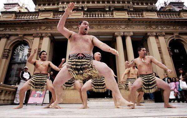 儀式舞踊「ハカ」を踊るニュージーランドの人々、オーストラリアのシドニー - Sputnik 日本